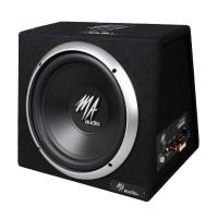 """MA Audio - 10"""" Subwoofer Box 1000W con Amplificador"""